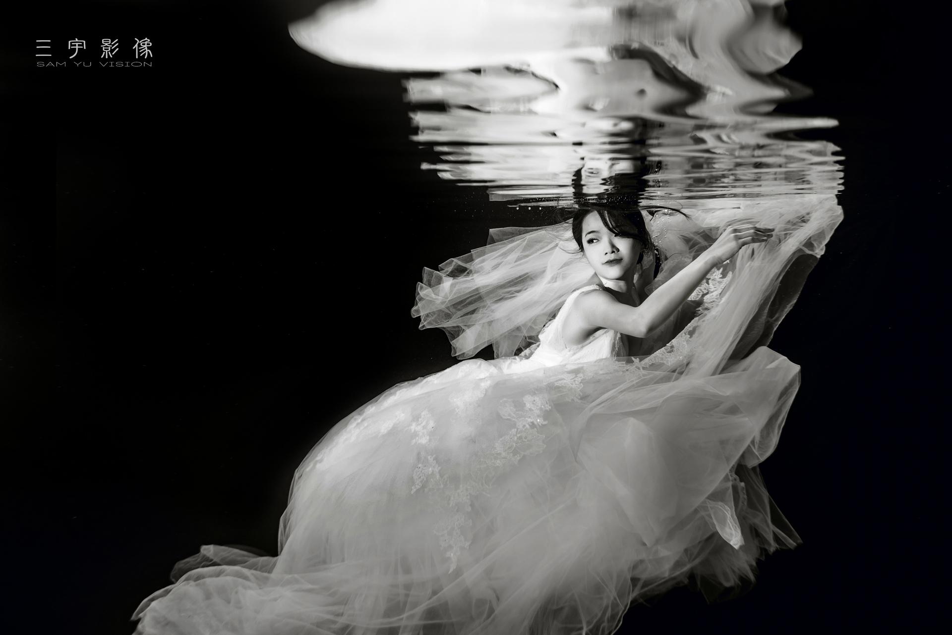 三宇影像,阿三,風雲20,WPPI,水中婚紗,自主婚紗,自助,新秘,婚攝,禮服,水下,潛水,游泳池,